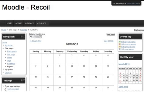 moodle themes plugins moodle plugins directory recoil