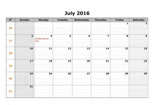weekly calendars template weekly july 2016 calendar templates printable calendar