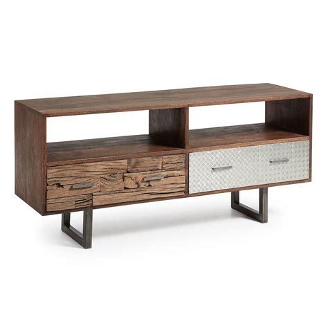 mueble de madera para tv mueble televisi 243 n en madera reciclada muebles de t v