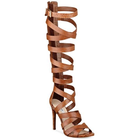 guess gladiator sandals guess chrina gladiator sandals in brown lyst