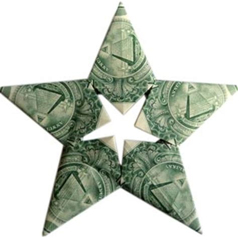 origami money christmas folding 5 pointed origami ornaments