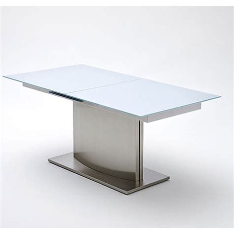 White Glass Extending Dining Table Memory Extending White Frosted Glass Dining Table 180 To