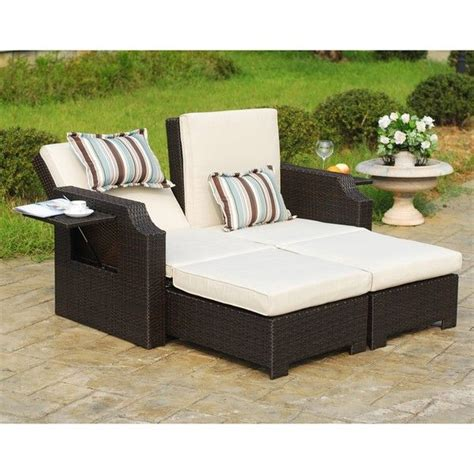 wicker and polyester convertible outdoor sofa chaise lounger convertible outdoor sofa chaise lounge baci living room