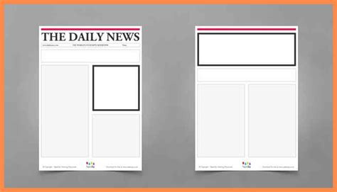 blank templates for newspaper articles newspaper article template ks3 business plan template