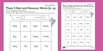 phase  oy color  phoneme real  nonsense words