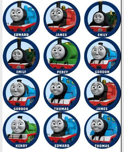 free printable thomas the train cup cake toppers google