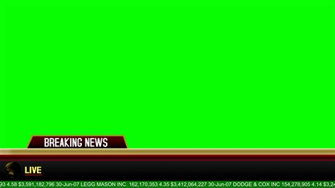 breaking news banner green screen animation youtube