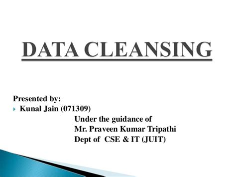 Data Detox by Data Cleansing