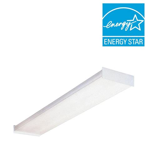 4 Foot Fluorescent Light Fixture Lithonia Lighting 4 Ft Wraparound Fluorescent Ceiling