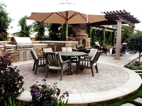pictures of backyard patios cheap outdoor kitchen ideas hgtv