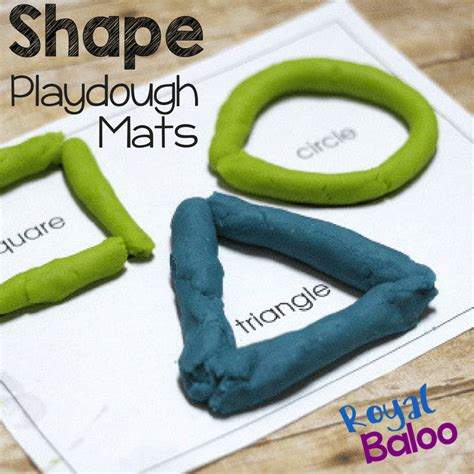 Shape Playdough Mats by With Play Dough And Shape Play Dough Pages Royal Baloo