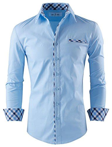 Dress Katun Polos Importdress Polos Import tom s ware mens premium casual inner contrast dress shirt
