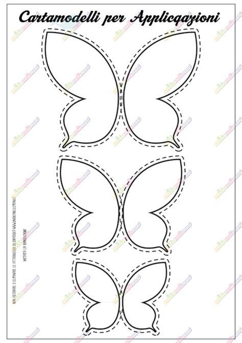 fiori pannolenci modelli cartamodello farfalla da stare