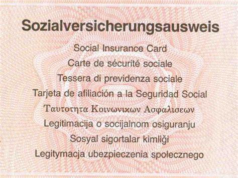 Vorlage Antrag Sozialversicherungsausweis Sozialversicherungsausweis Beantragen