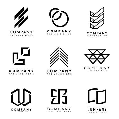 set of company logo design ideas vector vector free