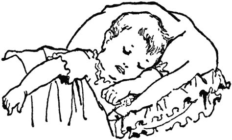 coloring pages sleeping baby person sleeping clip art cliparts co