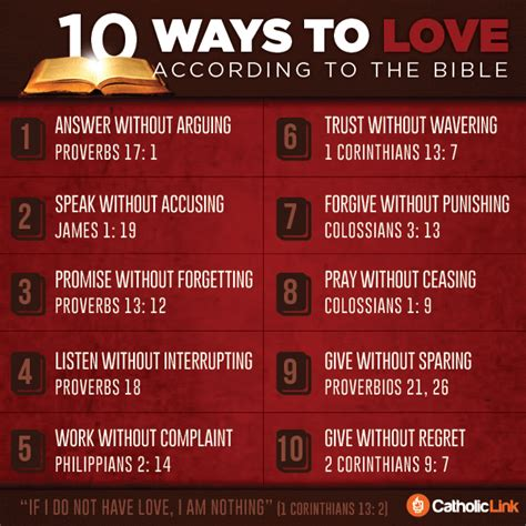 10 ways to love bible infographic 10 ways to love according to the bible