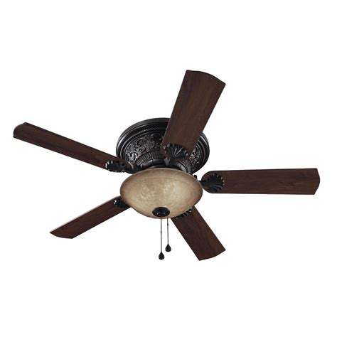ceiling fans with lights at lowes shop harbor 52 in specialty bronze ceiling fan with light kit at lowes