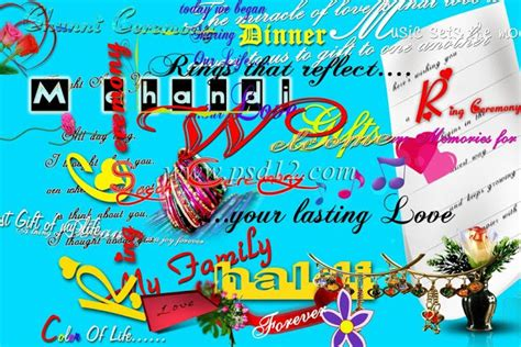 Wedding Album Text by Photoshop Backgrounds Integrated Text Layers