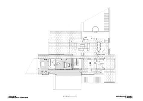 richard meier floor plans luxembourg house richard meier partners archdaily