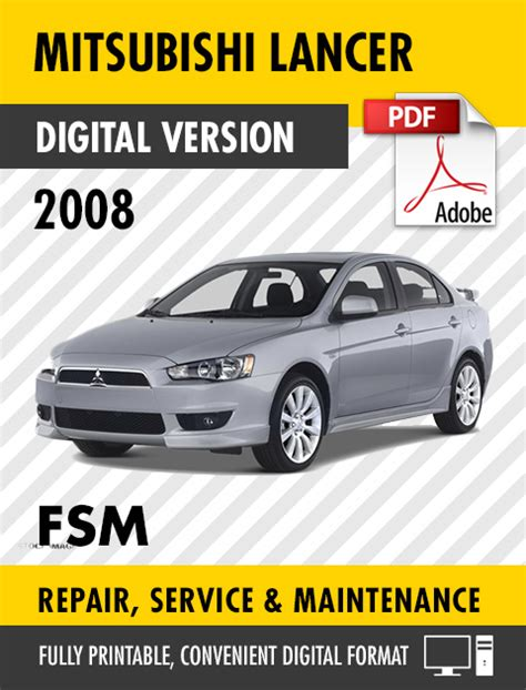 2008 mitsubishi lancer factory service repair manual workshop manual ebay