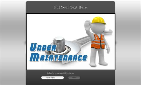under construction template blogger one stop blogging