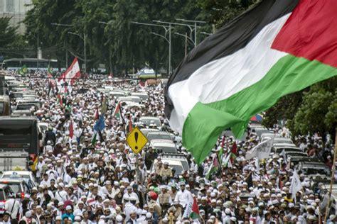 donald trump bela israel setelah aksi bela palestina digelar geotimes