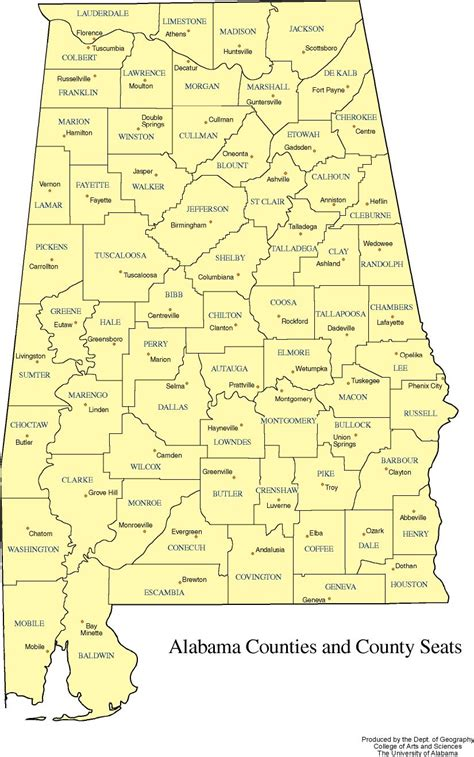 Is In What County Alabama County Codes