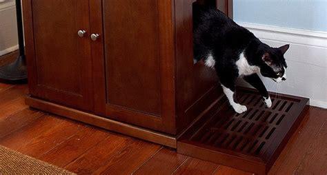 litter box furniture  ways  hide  cat bathroom