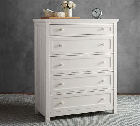 white beadboard dresser beadboard 5 drawer dresser pottery barn