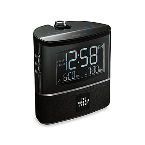 the sharper image 174 projection alarm clock with am fm radio bed bath beyond