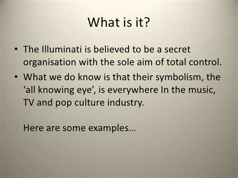 what is the illuminati illuminati presentation