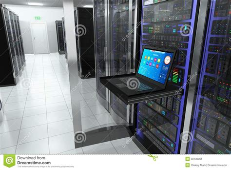 networking telecom the custom connection terminal in server room stock image image 33130961
