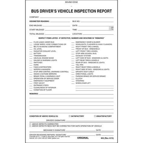 vehicle inspection report book driver s vehicle inspection report 2 ply w carbon