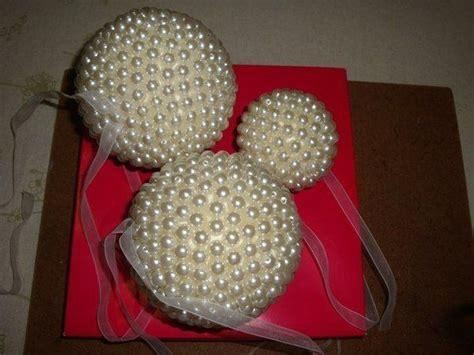 creative ideas diy pearl beads ball christmas ornaments