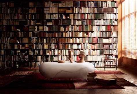 Reading In The Tub In The Bookcase by 10 Of The Most Stunning Home Libraries 100 Classics