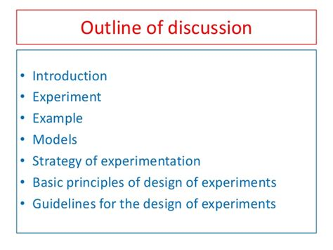 design of experiment notes planning of experiment in industrial research