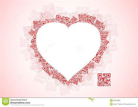 Heart Shaped Pattern Code | red heart shape patchwork of qr codes stock vector image