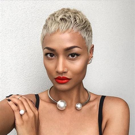 pixies from dark to blonde 5 cute blonde pixie haircut for black women