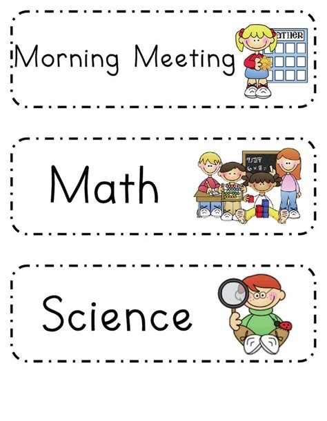 printable visual schedule for kindergarten 17 best ideas about visual schedule printable on pinterest