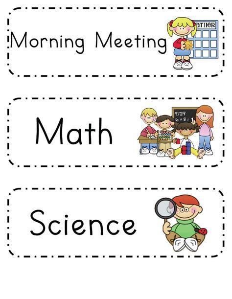 printable daily schedule for preschool classroom mrs ricca s kindergarten daily schedule freebie for