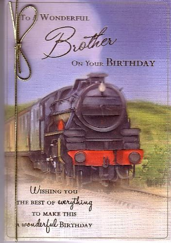 Happy Birthday Brother Train. Personalised Braille Card