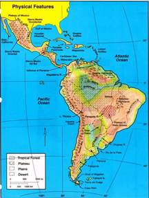 Latin America Physical Features Map by World Ocean Map Games Mr Matt Yawn S Sixth Grade Gifted