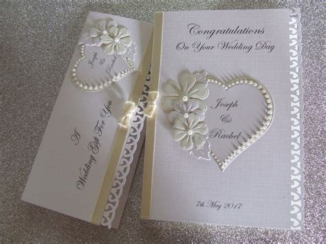 personalised wedding card personalised wedding day card and or gift voucher wallet