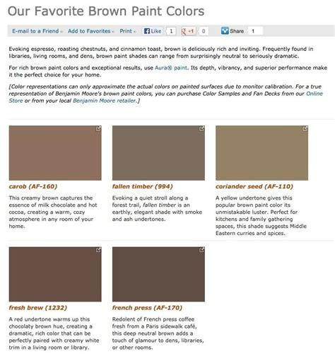 favorite popular best selling shades of brown paint colors from benjamin walls