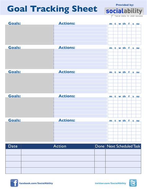 goal tracker template it s a lifestyle change not a diet