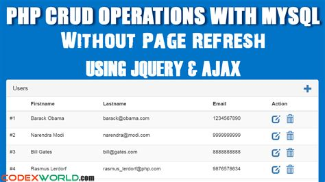 date format in php mysql at insert php crud operations without page refresh using jquery ajax