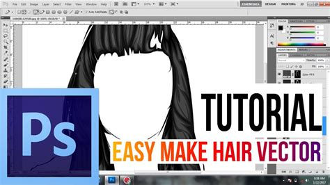 tutorial adobe photoshop cs3 vector afajarsdq draw vector hair photoshop tutorial youtube