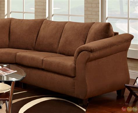 Sectional Sofas Brown Stylish Chocolate Brown Fabric Contemporary Sectional Sofa