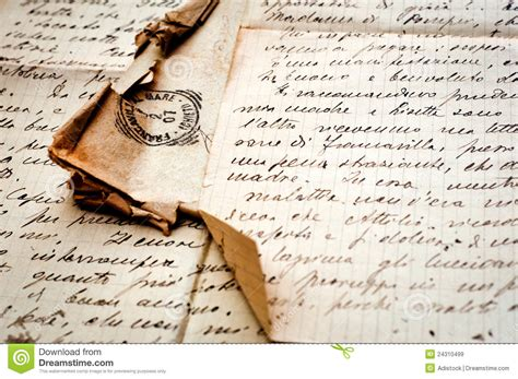 old letter with stamp on old paper royalty free stock